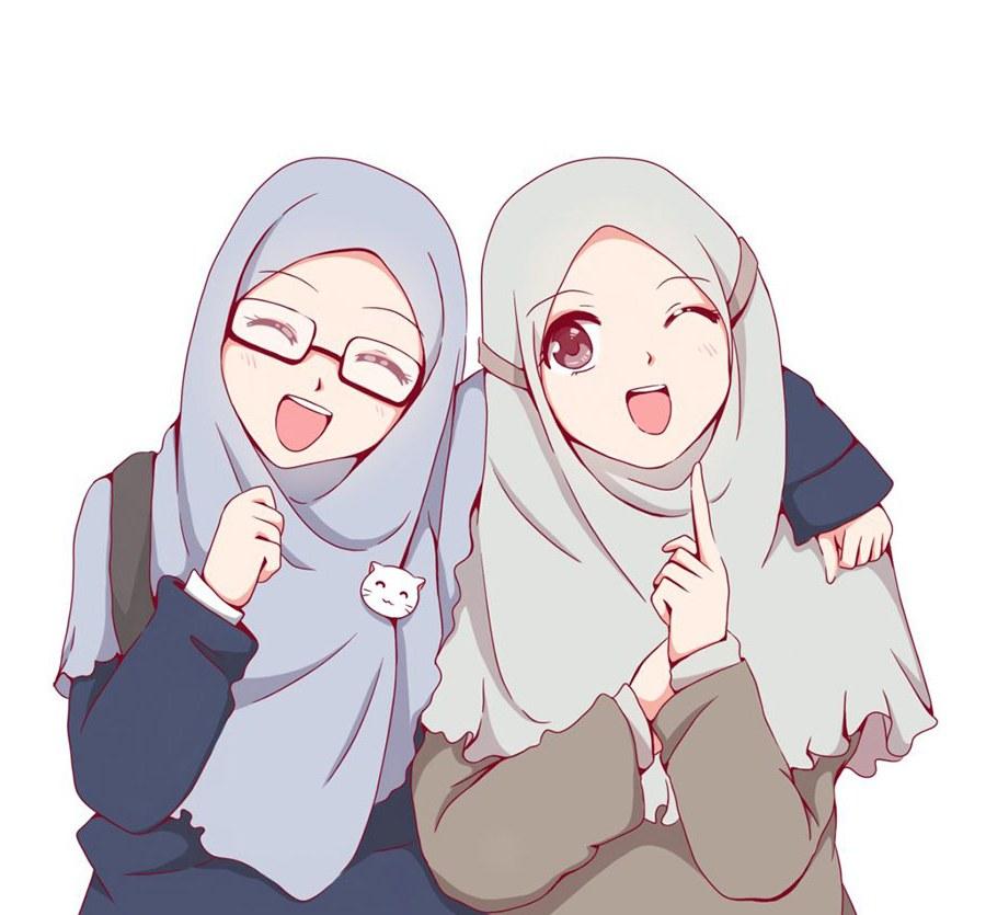 Inspirasi Muslimah Kartun Lucu E9dx 1000 Gambar Kartun Muslimah Cantik Bercadar Kacamata El