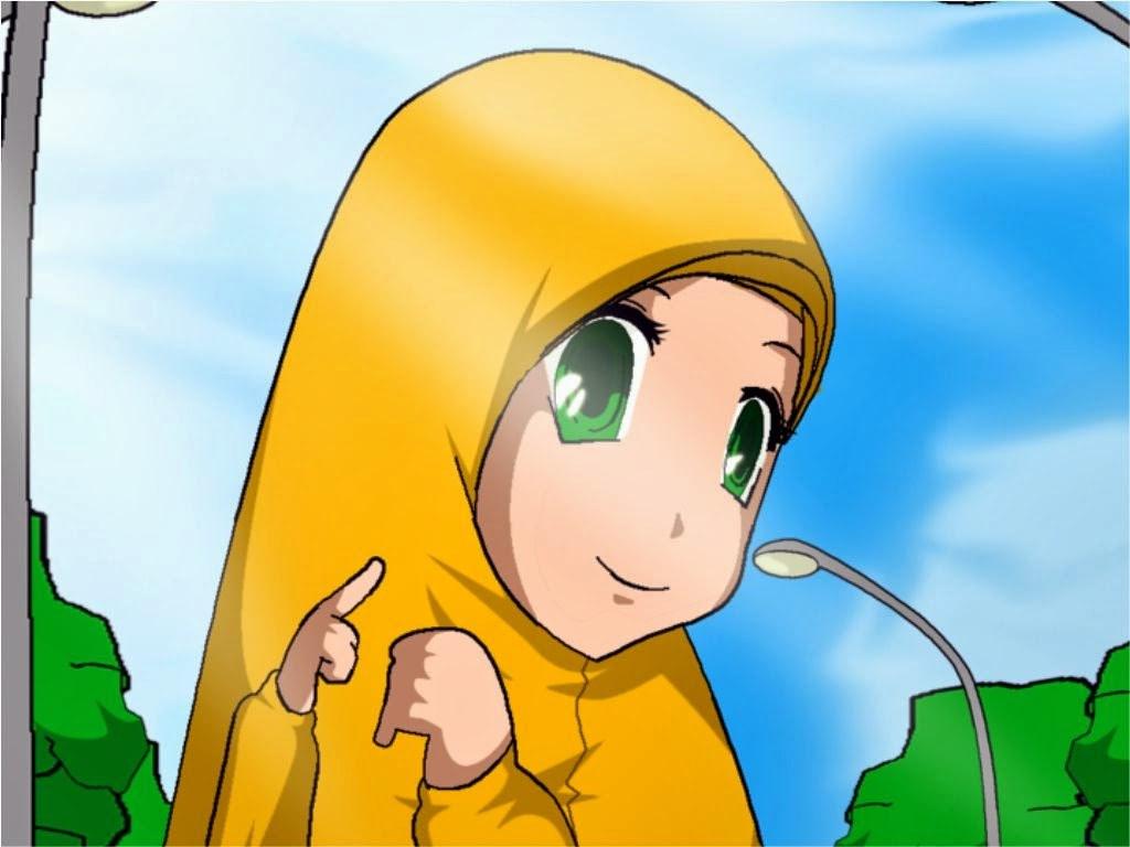 Inspirasi Muslimah Kartun Lucu E9dx Wallpaper Kartun Muslimah Cantik