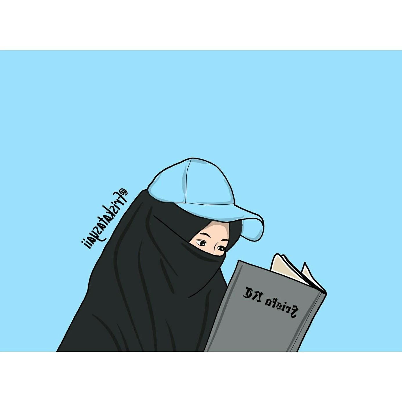 Inspirasi Muslimah Kartun Lucu O2d5 Gambar Kartun Belajar Membaca Keren