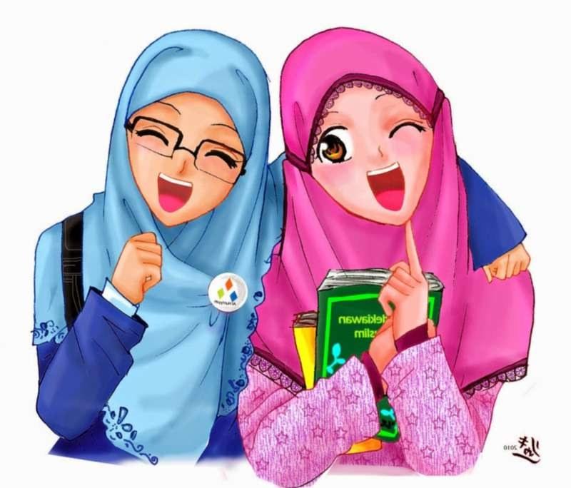 Inspirasi Muslimah Kartun Lucu S5d8 19 Kartun Muslimah Lucu Anak Cemerlang