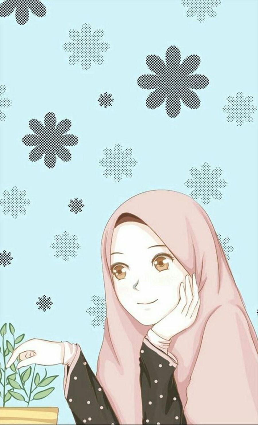 Inspirasi Muslimah Kartun Lucu Zwdg Wallpaper Kartun I Muslimah Lucu Wallpaperall