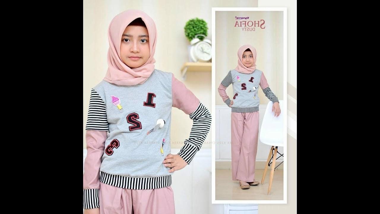 Model Baju Lebaran 2019 Anak Perempuan S1du Baju Muslim Anak Perempuan Terbaru 2019