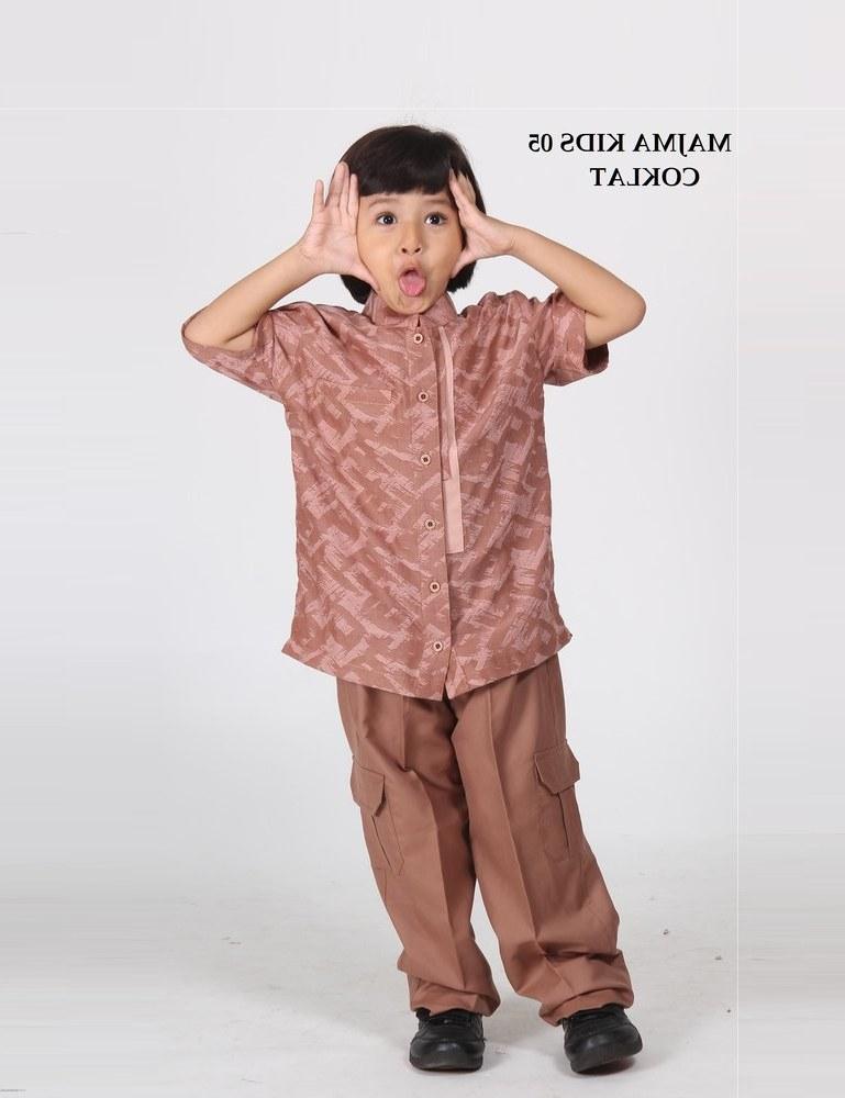 Model Baju Lebaran Anak Laki Laki Ftd8 Jual Baju Koko Anak Majma Kids 05 Coklat Size 3 Lebaran