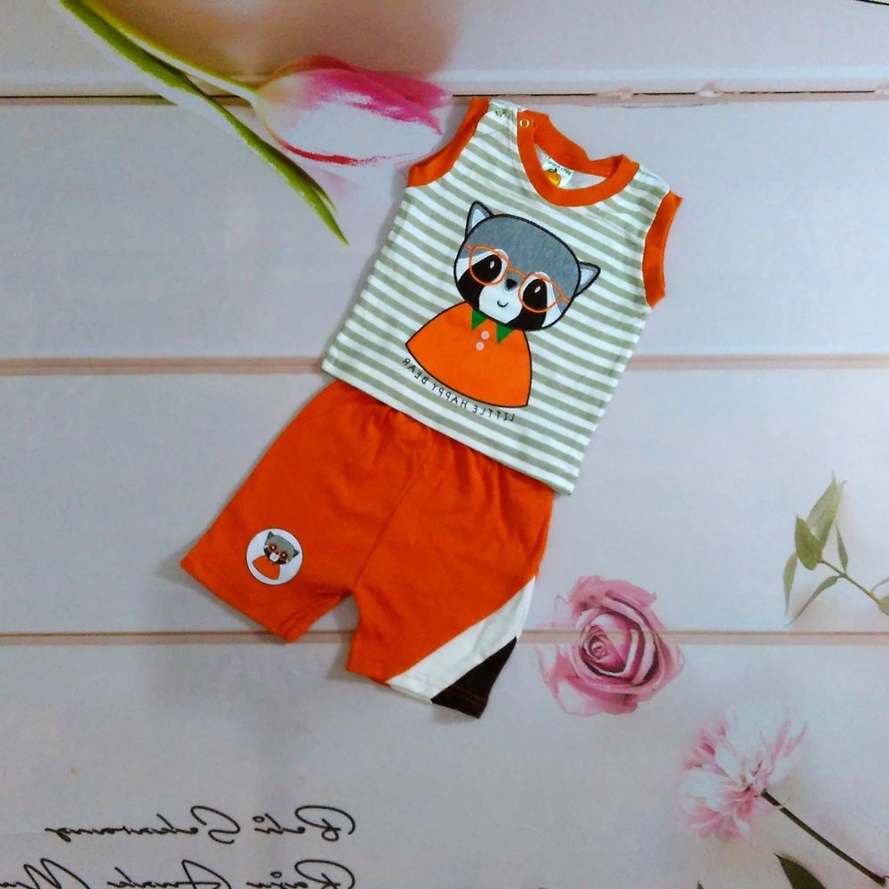 Model Baju Lebaran Anak Laki Laki T8dj Jual Setelan Baju Kaos Anak Laki Laki Cowok Beruang