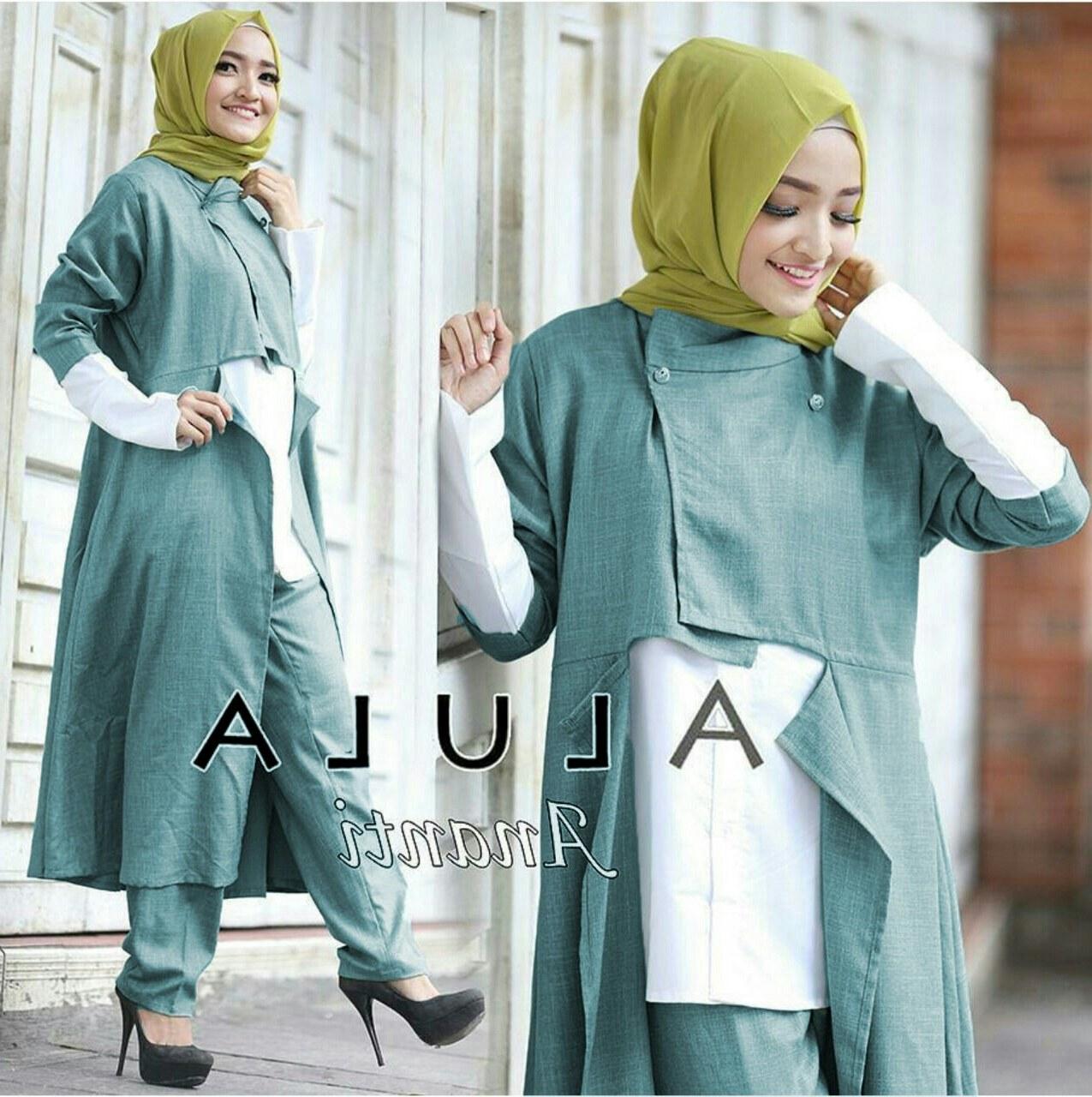 Model Baju Lebaran Celana J7do Baju Setelan Hijab Celana Wanita Dewasa Modis Murah