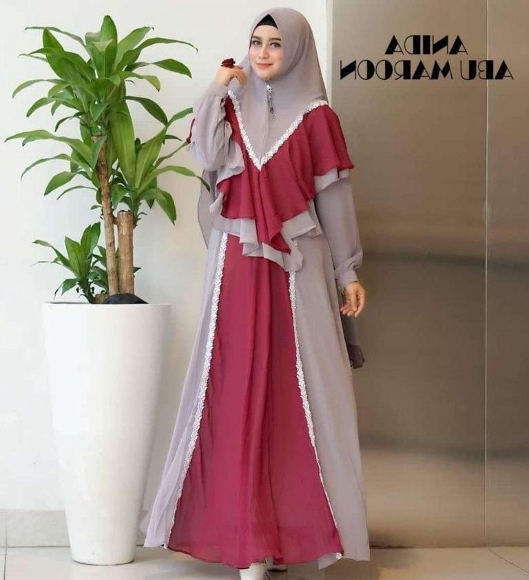 Model Baju Lebaran Gamis 2019 Qwdq Baju Gamis Lebaran Terbaru 2019 Anida Gamisalya