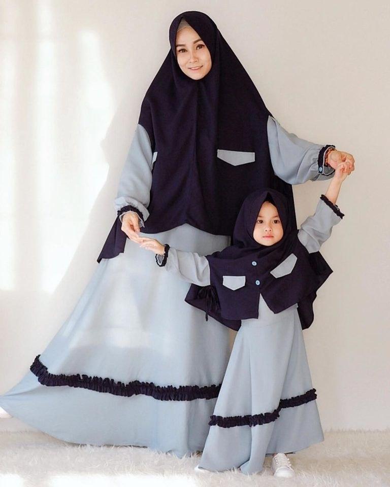 Model Baju Lebaran Ibu Dan Anak Perempuan 4pde 30 Model Gamis Ibuk Ibuk Fashion Modern Dan Terbaru
