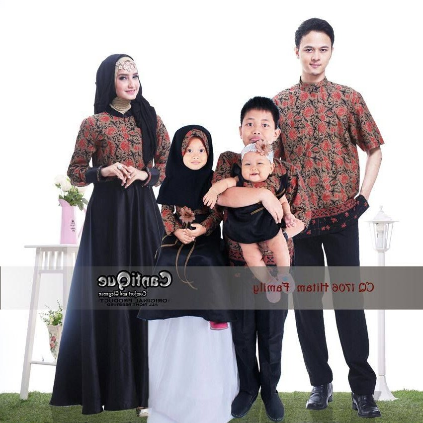 Model Baju Lebaran Keluarga 2019 9fdy Gamis Sarimbit Keluarga Dengan Gambar
