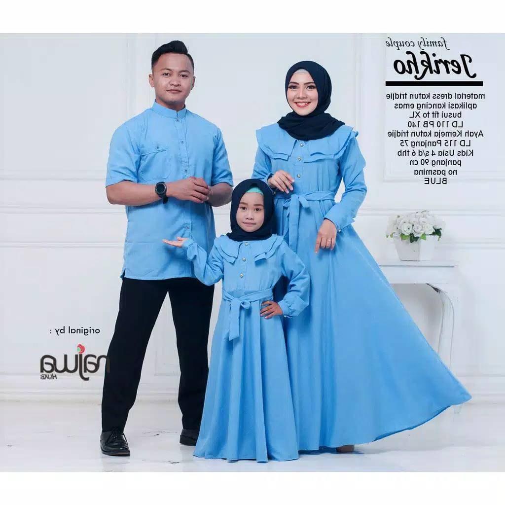 Model Baju Lebaran Keluarga 2019 Budm Couple Keluarga Jerikho ori by Najwa Katalog Bajugamismu