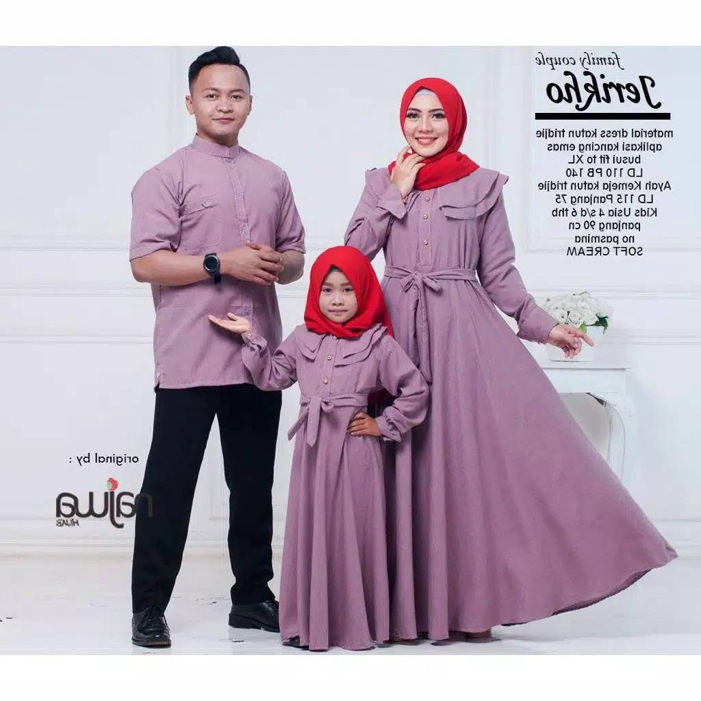 Model Baju Lebaran Keluarga 2019 T8dj Couple Keluarga Jerikho ori by Najwa Katalog Bajugamismu
