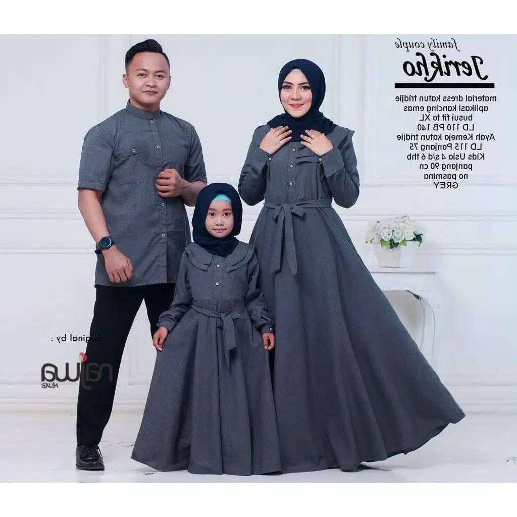 Model Baju Lebaran Keluarga 2019 Wddj Couple Keluarga Jerikho ori by Najwa Katalog Bajugamismu