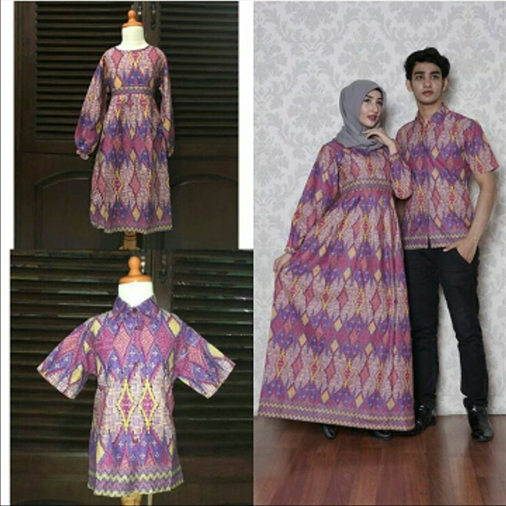 Model Baju Lebaran Keluarga Batik E9dx Jual Set Family Gamis Batik Ciara Gamis Keluarga Sarimbit