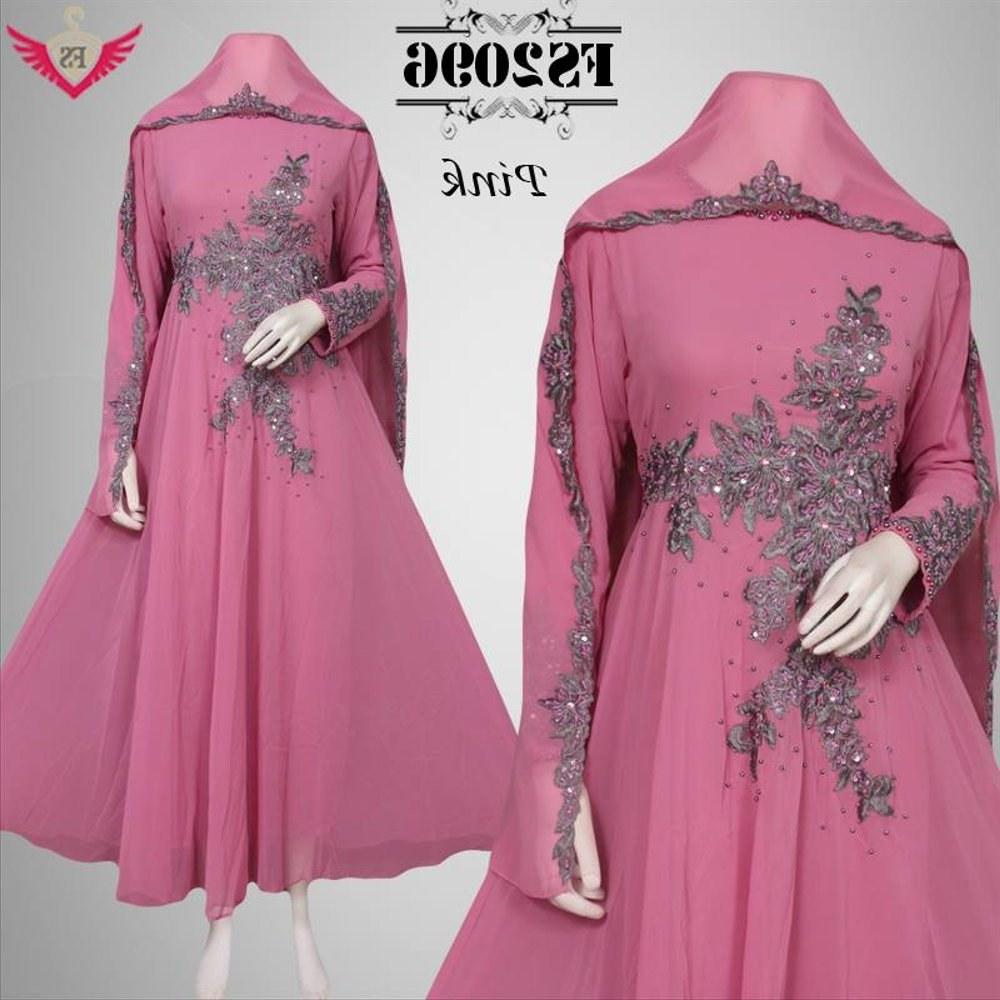 Model Baju Lebaran Mewah Tqd3 Jual Baju Muslim Pink Anggun Mewah Lebaran Model Terbaru