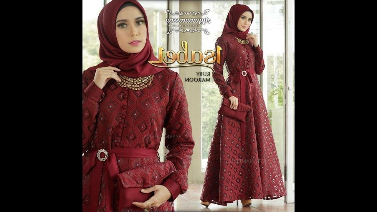 Model Baju Lebaran Mewah Xtd6 Gaun Pesta Muslimah Cantik Unik Elegan Dan Mewah Terbaru