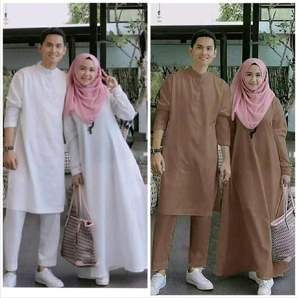 Model Baju Lebaran Pasangan Wddj Jual Baju Pasangan Lebaran Muslim Polos Pria Wanita Model