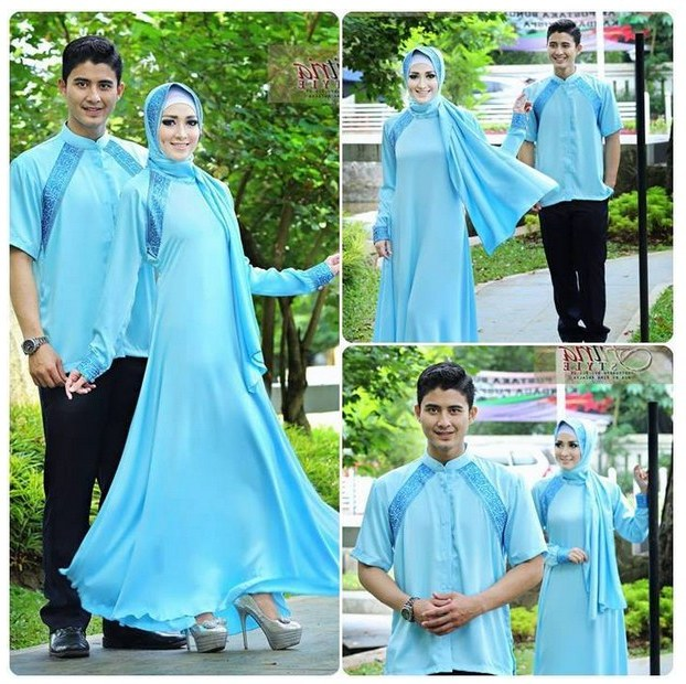 Model Baju Lebaran Pasangan Xtd6 Trend Fashion Baju Muslim Lebaran Pasangan