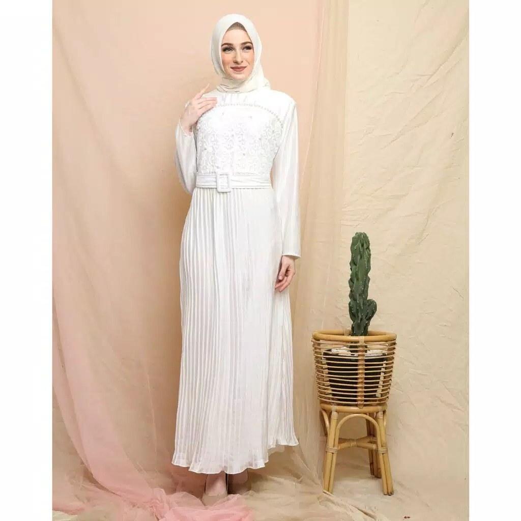 Model Baju Lebaran Putih 0gdr Baju Gamis Lebaran Modern Jessa Katalog Bajugamismu