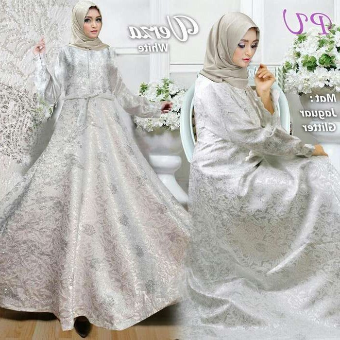 Model Baju Lebaran Putih Ffdn Trend Gamis Lebaran 2018 Jaguard Verza Putih