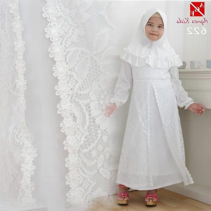 Model Baju Lebaran Putih Ipdd Gamis Putih Anak Perempuan Baju Muslim Syari Anak Lebaran