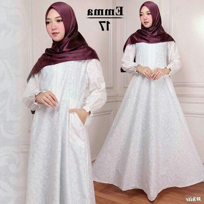 Model Baju Lebaran Putih Nkde Baju Lebaran 2018 Katun Emma 17 Putih