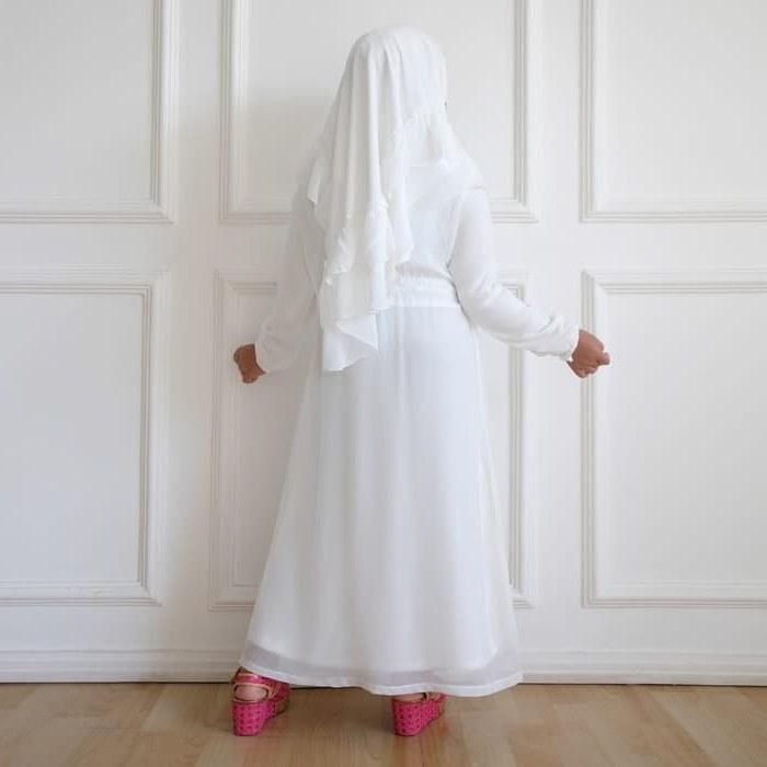 Model Baju Lebaran Putih Nkde Gamis Putih Anak Perempuan Baju Muslim Syari Anak Lebaran