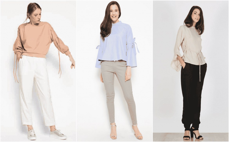 Model Baju Lebaran Putih Rldj Bosan Baju Lebaran Warna Putih Coba 11 Blouse Berwarna