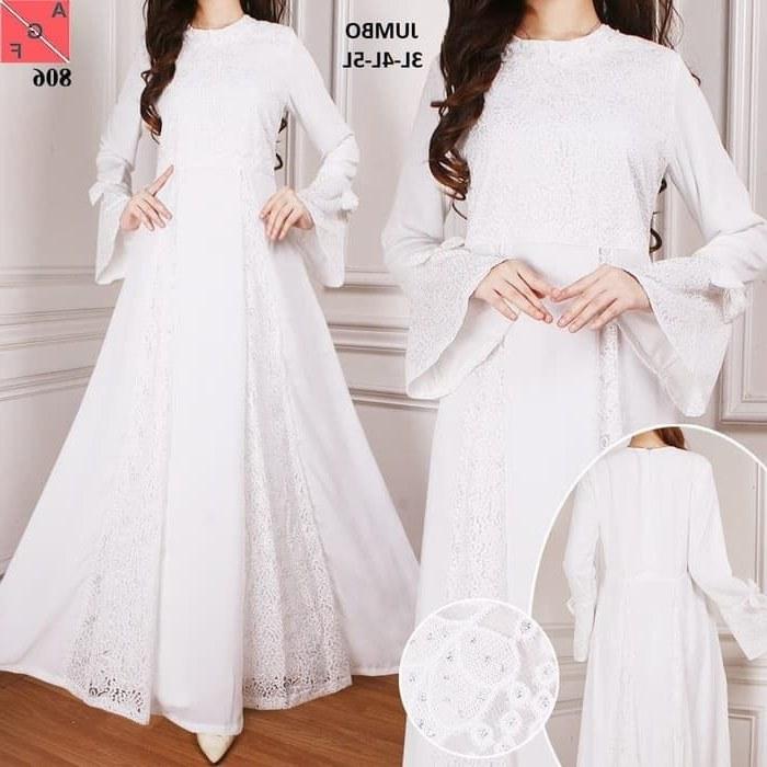 Model Baju Lebaran Putih Y7du Baju Gamis Pesta Terbaru Af806 Gamiscantik
