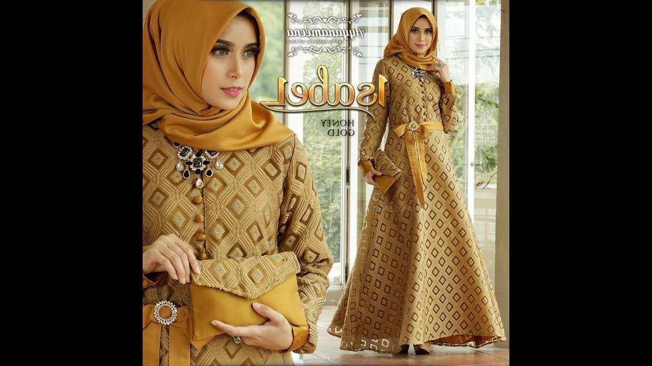 Model Baju Lebaran Simple 87dx Trend Gamis Lebaran 2018 Simple Mewah Elegan Baju Pesta