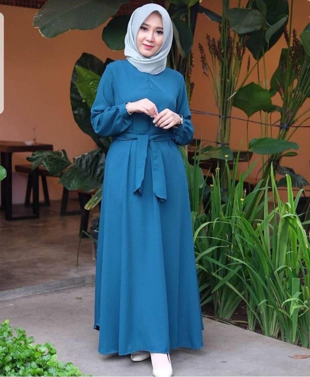 Model Baju Lebaran Simple Tqd3 Jual Baju Syar I Hijab Panjang atasan Simple Blouse