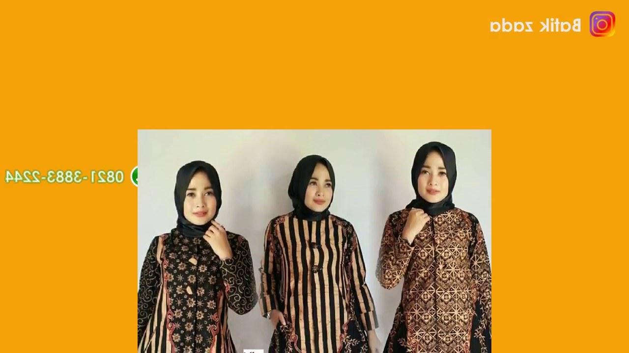 Model Baju Lebaran Syar'i S1du Model Baju Batik Wanita Terbaru Trend Model Baju Batik