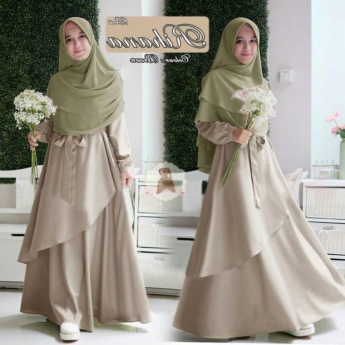 Model Baju Lebaran Syari 2019 Ftd8 Gamis Syari Remaja Terbaru 2019 Rihana Baju Gamis Terbaru
