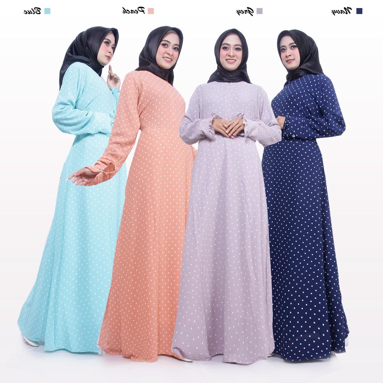 Model Baju Lebaran Tanah Abang 2018 S5d8 Jual Baju Gamis Tanpa Khimar Bahan Bubble Pop Motif