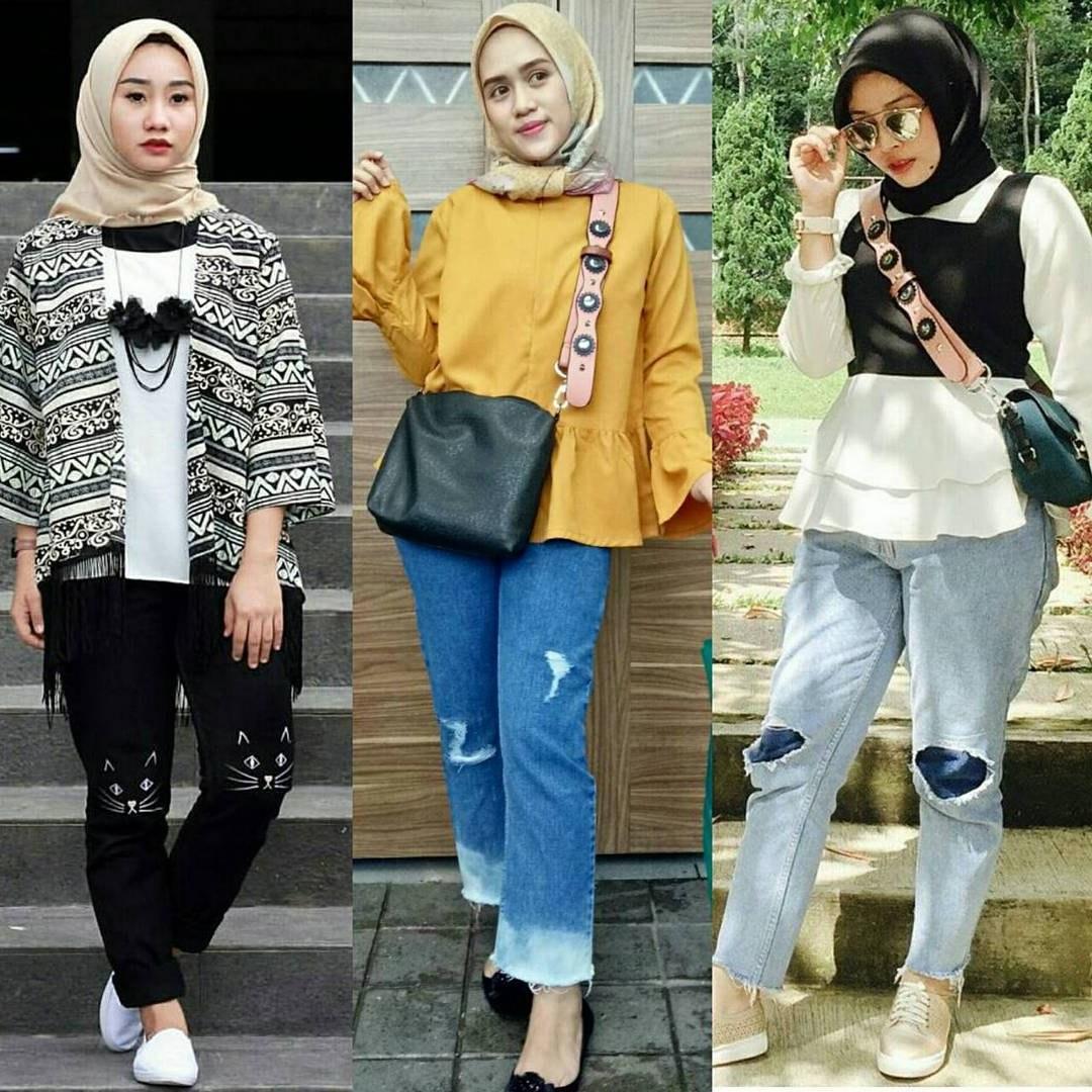 Model Baju Lebaran Wanita Tahun 2019 Ffdn 18 Model Baju Muslim Modern 2018 Desain Casual Simple & Modis