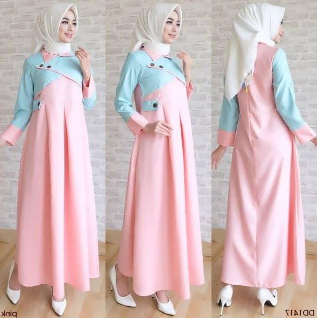 Model Baju Lebaran Wanita Tahun 2019 Rldj 35 Model Baju Gamis Terbaru Lebaran Hamil Gemuk Kurus