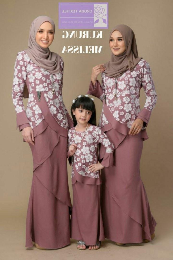 Model Fashion Baju Lebaran 2019 O2d5 Kurung Melissa Baju Raya 2019 Muslimah Fashion Two