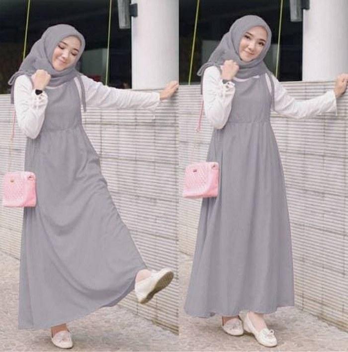 Model Fashion Muslimah Remaja Ipdd Jual Set Kanda Abu 3in1 Setelan Baju Muslim Remaja Busana