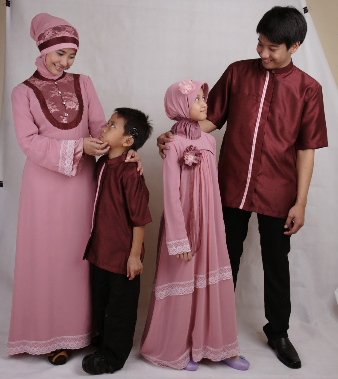 Model Inspirasi Baju Lebaran Keluarga 3id6 Model Busana Muslim Terbaru