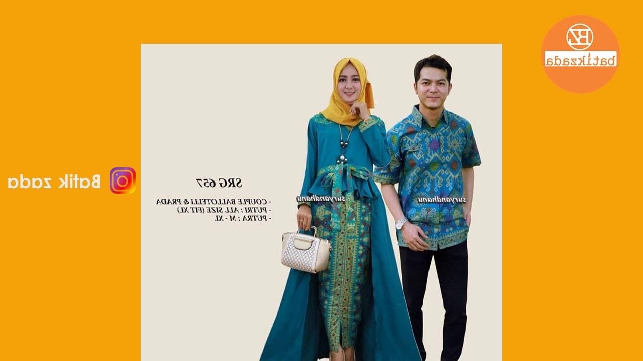Model Model Baju Lebaran 2018 Sarimbit 0gdr Batik Couple Modern Model Baju Batik Couple Modern Untuk
