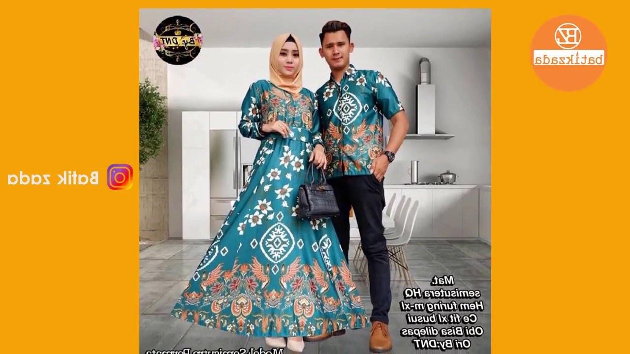 Model Model Baju Lebaran 2018 Sarimbit Q5df Trend Model Baju Batik Gamis Hijab Sarimbit Terbaru 2018