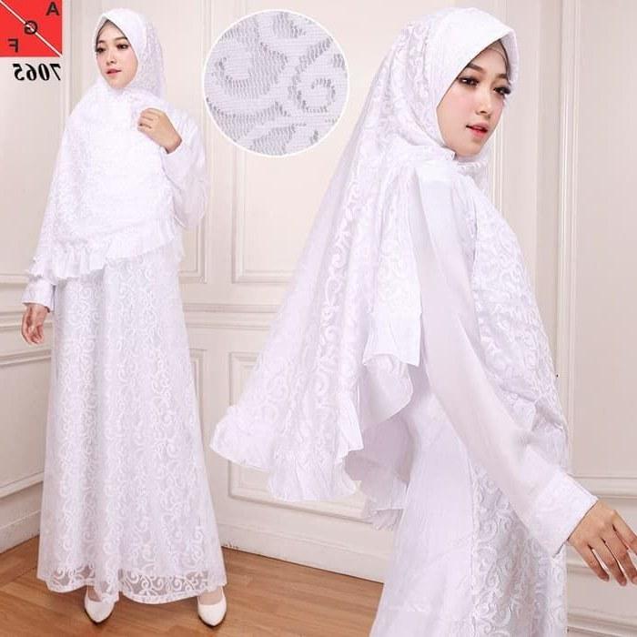 Model Model Baju Lebaran Kekinian O2d5 Gamis Syari Lebaran Putih Kekinian Af7065