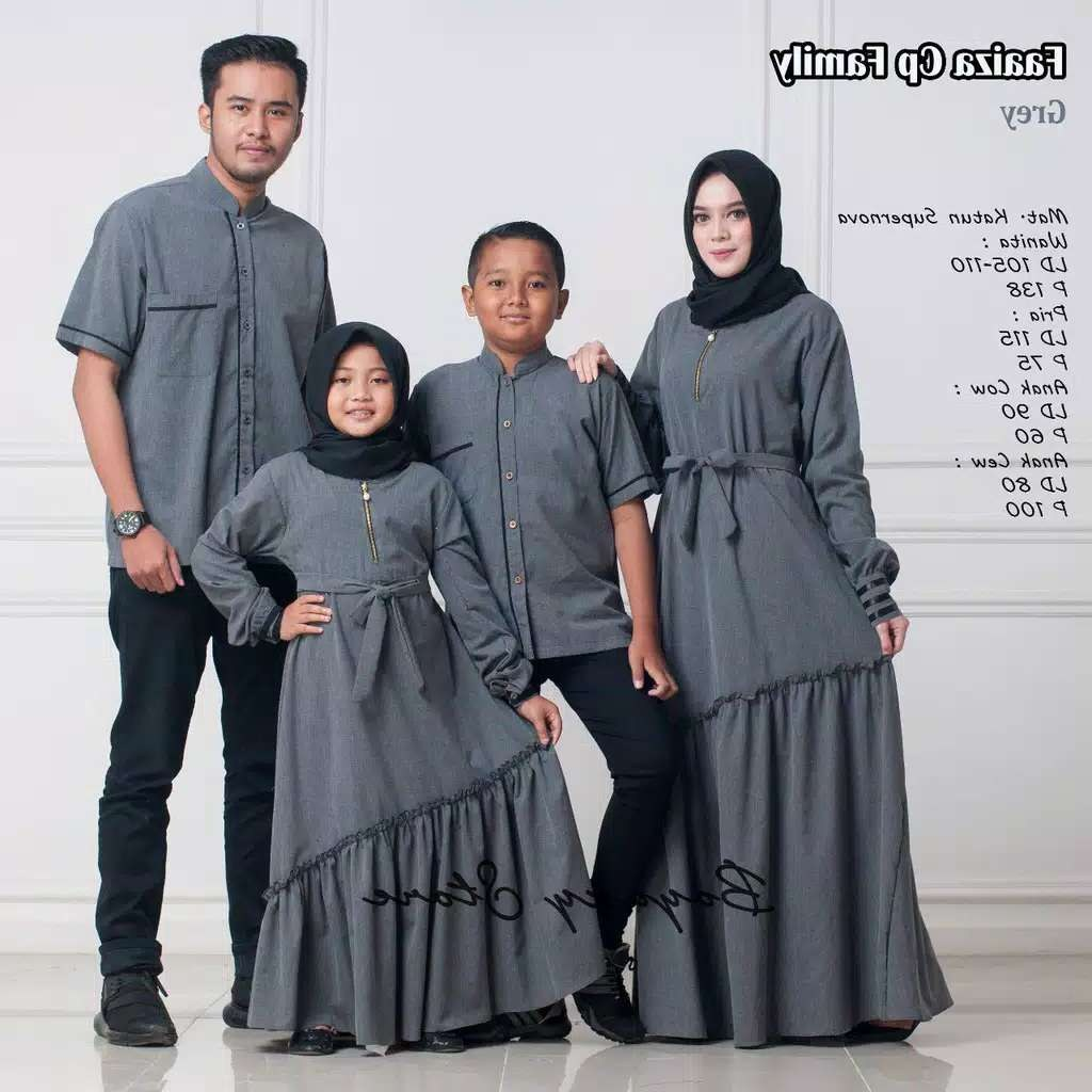 Model Model Baju Lebaran Keluarga Terbaru 2019 Budm Couple Keluarga Faaiza ori by Boyazy Katalog Bajugamismu