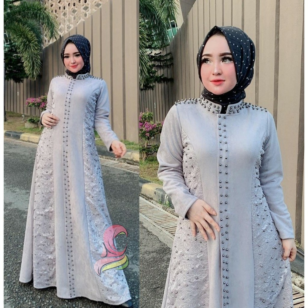 Model Model Baju Lebaran Thn 2020 Bqdd Gamis Terbaru 2020 Mewah Saukiah Abu