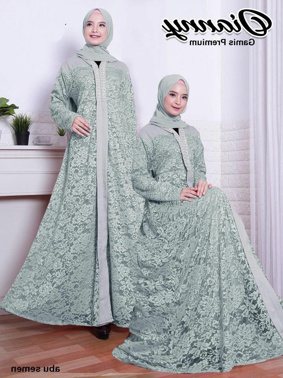 Model Model Baju Lebaran Thn 2020 Mndw Gamis Brokat Lebaran 2020 Dianny Katalog Bajugamismu