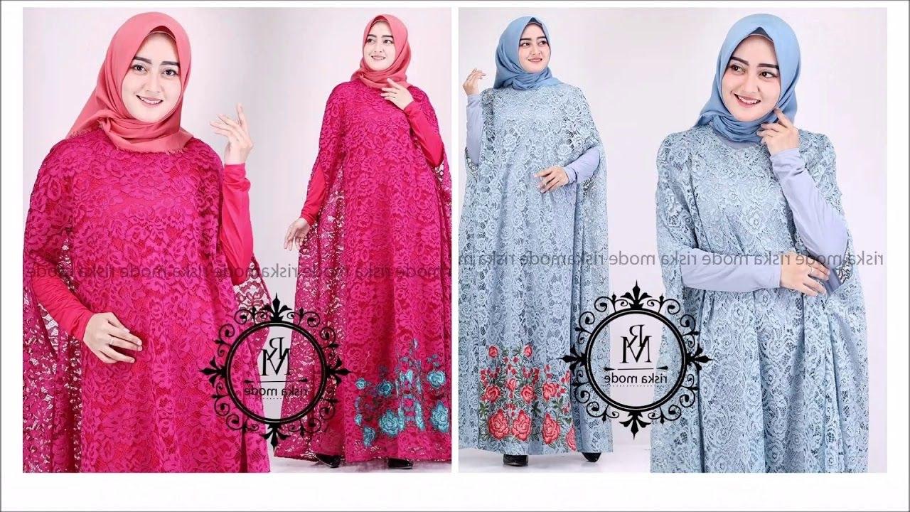 Model Model Baju Lebaran Untuk Ibu Menyusui Zwd9 Model Baju Kaftan Brokat Lebaran 2019 Yang Cocok Digunakan