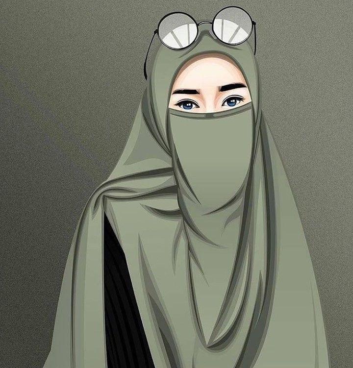 Model Muslimah Bercadar Animasi Etdg Gambar Kartun Muslimah Modern Bercadar Kumpulan Dp Bbm