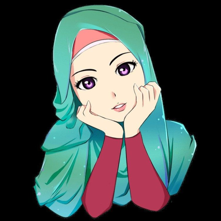 Model Muslimah Bercadar Animasi Etdg Gambar Wanita Muslimah Berhijab Cantik