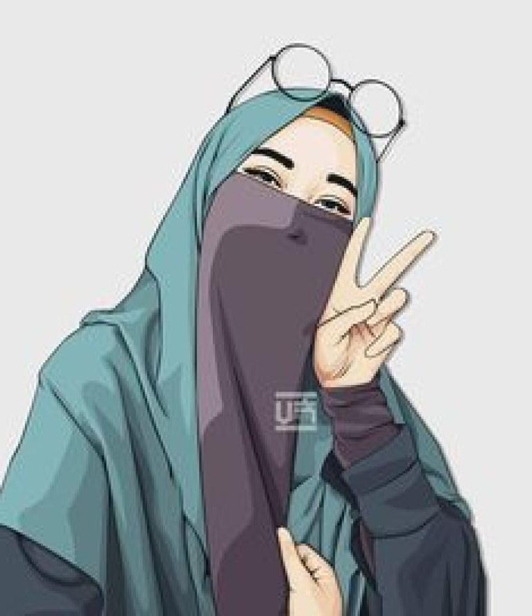 Model Muslimah Bercadar Animasi U3dh 75 Gambar Kartun Muslimah Cantik Dan Imut Bercadar
