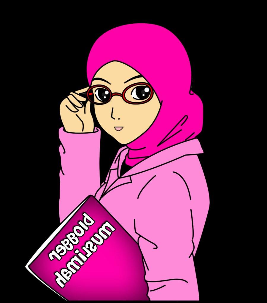 Model Muslimah Kartun Png J7do Kartun Muslimah Kacamata