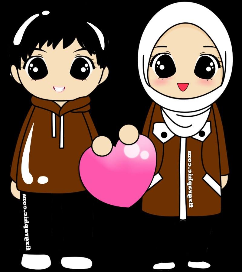 Model Muslimah Kartun Png Thdr Fizgraphic Freebies Doodle Muslim Muslimah Couple
