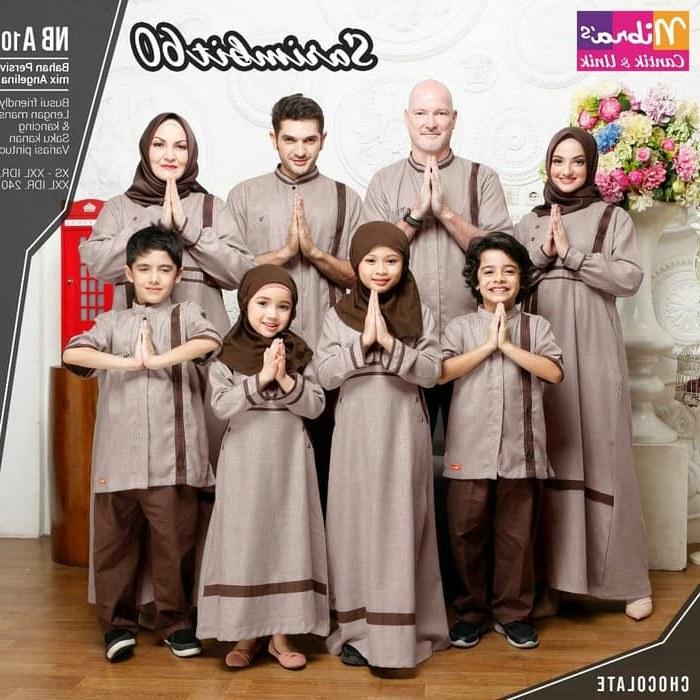 Model Rekomendasi Baju Lebaran Keluarga 4pde Jual Sarimbit Lebaran Nibras Family 60 Coklat Baju Muslim